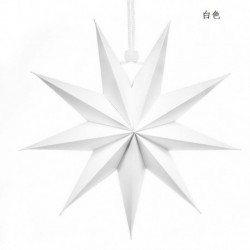 fehér - Karácsonyi 3D nagy csillag függő lámpaernyő papír lámpás mennyezeti ablak dekoráció Egyesült Királyságban