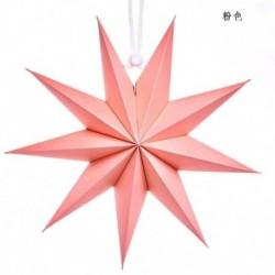 Rózsaszín - Karácsonyi 3D nagy csillag függő lámpaernyő papír lámpás mennyezeti ablak dekoráció Egyesült