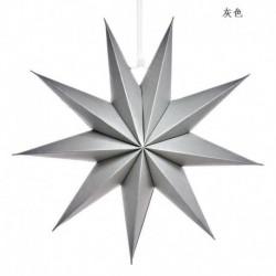szürke - Karácsonyi 3D nagy csillag függő lámpaernyő papír lámpás mennyezeti ablak dekoráció Egyesült Királyságban