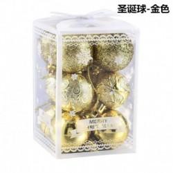Arany - 12db csillogó karácsonyi baubles karácsonyfa dísz lógó labda otthoni party dekoráció
