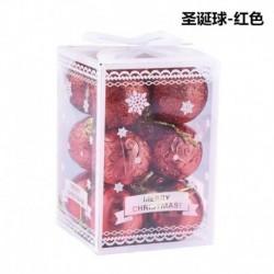 Piros - 12db csillogó karácsonyi baubles karácsonyfa dísz lógó labda otthoni party dekoráció