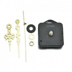 * 1 Fekete   Arany - Nagy csendes kvarc barkácsolású falióra mozgó kezek mechanizmus javító alkatrész szerszámkészlet