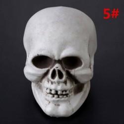 9 * 10 * 12,5 cm - Műanyag mini emberi koponya dekor prop csontváz fej Halloween kávézók dekoráció