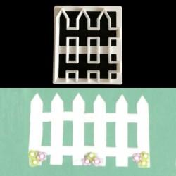 Nincs szín - 1db kerítés műanyag Fondant Cutter tortaforma Fondant Cupcake díszítő eszközök JP