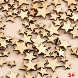 * 5 csillag 100db (8mm-20mm * 2,5m ... - 3D karácsonyfa fából készült medálok függő DIY karácsonyi dekoráció otthoni