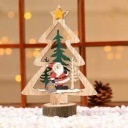 1db sárga csillagfa (18x6cm) - 3D karácsonyfa fából készült medálok függő DIY karácsonyi dekoráció otthoni party