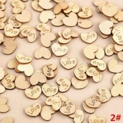 * 2 Szerelem 100db (15 * 12 * 2mm) - 3D karácsonyfa fából készült medálok függő DIY karácsonyi dekoráció otthoni