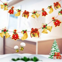 1db 2m hosszú Karácsonyi függő dekoráció - girland - Karácsonyfa - Ajándék - Száncsengő mintás - 7