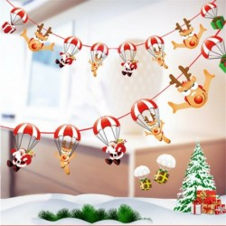 * 7 1PC ejtőernyő (2m) - Karácsonyi party függő dekoráció Mikulás hóember karácsonyi fa díszek
