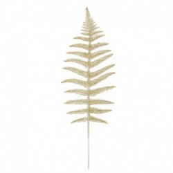 5db 43x14cm-es Arany színű levél dísz - Karácsonyi dekoráció - 25