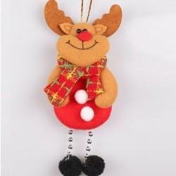 * 12 1db Elk (17x8cm) - Karácsonyi party függő dekoráció Mikulás hóember karácsonyi fa díszek