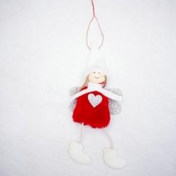 * 15 1PC Vörös Angyal (10x20cm) - Karácsonyi party függő dekoráció Mikulás hóember karácsonyi fa díszek