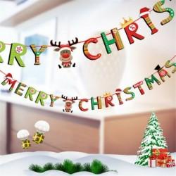 * 7 1PC levél (2m) - Karácsonyi party függő dekoráció Mikulás hóember karácsonyi fa díszek