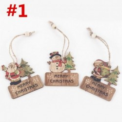 * 1 3db (6 * 7cm) - Karácsonyi party függő dekoráció Mikulás hóember karácsonyi fa díszek