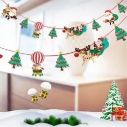 * 7 1PC Mikulás és fa (2m) - Karácsonyi party függő dekoráció Mikulás hóember karácsonyi fa díszek