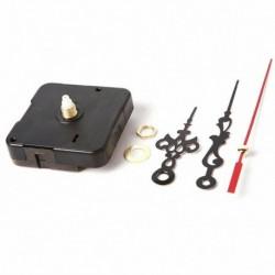 Nincs szín - Kvarc mozgás mechanizmusa Csendes óra fekete és piros kezű barkács alkatrész készlet készlet eszköz
