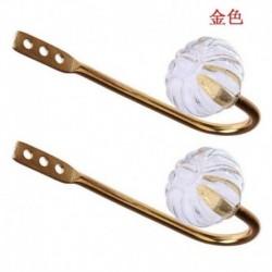 Arany - 2x fém kristályfüggöny visszatartó falikötő hátlap U alakú horgok fogas tartó UK