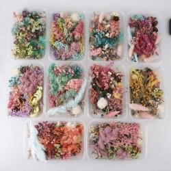 Nincs szín - 1Box valódi préselt szárított virág művészeti kézműves gyanta medál ékszerek készítéséhez