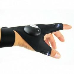 Bal kéz - 1Pair LED-es lámpa ujjvilágító kesztyű Automatikus javítás a szabadban villogó műtárgy USA-ban