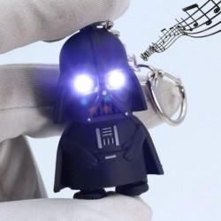 Nincs szín - Világítsd meg a LED-es Star Wars Darth Vadert hangos zseblámpa zseblámpa kulcstartó kulcstartóval