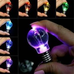 Nincs szín - Mini színes LED zseblámpa izzó lámpa kulcstartó kulcstartó lámpa fáklya USA