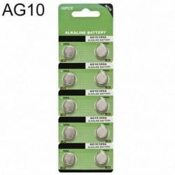 10db AG10 - 5/10 / 100PCS alkáli érme gombelem a robusztus játékóra távirányítóhoz
