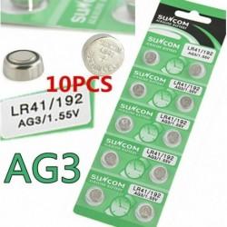 10PCS 10PCS 1.55V AG3 SG3 LR41 ... - 5/10 / 100PCS alkáli érme gombelem a robusztus játékóra távirányítóhoz