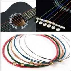 Színes - 6 db acél klasszikus akusztikus gitár húr készlet sárgaréz / réz / színes