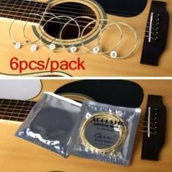 Nincs szín - 1 csomag x 6db akusztikus gitár húrok foszfor bronz és acél húrok AU
