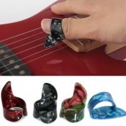 Nincs szín - 3 ujjválogató   1 hüvelykujj választó Plektrum gitár műanyag szett Új