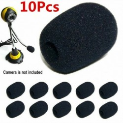 Nincs szín - 10 db fekete habgömb alakú mikrofon szélvédő mikrofonkészlet szivacshab fedél CA