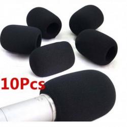 Nincs szín - 10db praktikus kis fekete mikrofon fejhallgató szélvédő szivacs hab mikrofon fedelek