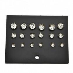 9Páros arany - 24 pár divat női strasszos kristály gyöngy fülbevaló ékszer ajándék