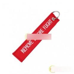 Repülés előtt eltávolítandó kulcstartó táska címke