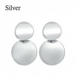 Design-28 ezüst (2,8x4 cm) - Boho geometriai kerek kör Dangle Drop fülbevaló fülbevalók női divat ékszerek