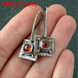 * 66 - 925 ezüst dangle csepp fülbevaló fülhorog holdkő női divat ékszer ajándék
