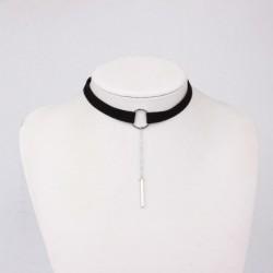 * 47 - Vintage retro fekete csipke kristály varázsa medál choker nyaklánc gótikus ékszerek