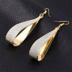 * 29 Arany (1,3 cm * 8,2 cm) - Divattervezés geometria női kör kör csepp karika fülbevaló ékszerek