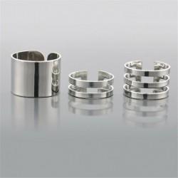 Ezüst - 3db arany ezüst városi gyűrűk verem a csülök gyűrűs szalag fölött Midi ujj gyűrű készlet