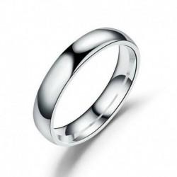 10. - Rozsdamentes acél jegygyűrű fényes tükör polírozott hagyományos szalaggyűrű Sz6-12