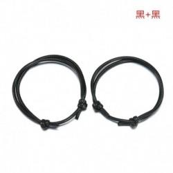 Fekete   fekete - Egyszerű 2db / készlet pár kézzel készített bokalánc állítható kötél szerencsés boka karkötő
