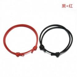 Fekete   Piros - Egyszerű 2db / készlet pár kézzel készített bokalánc állítható kötél szerencsés boka karkötő USA