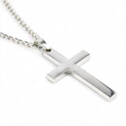 Elegáns nyaklánc ezüst színű kereszt fém medállal