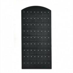 Fekete 72 lyuk - 72 lyukú fülbevaló ékszer kirakat műanyag kijelző állvány tartó tartó szervező