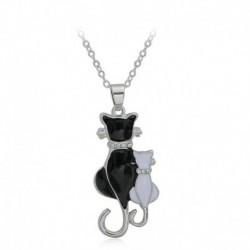 Nincs szín - Elegáns női ezüst macska báj medál choker vaskos lánc nyaklánc ékszer ajándék