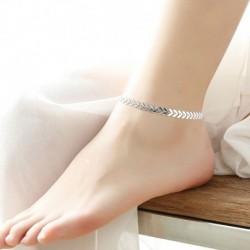 Ezüst - Szexi nők Boho arany nyíl boka karkötő bokalánc láb szandál strand ékszerek
