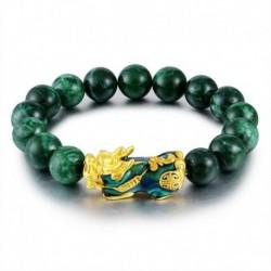 Nincs szín - Feng Shui zöld obszidián ötvözet vagyon arany pixiu karkötő szerencsés ékszer ajándék