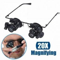 Nincs szín - Nagyító nagyító 20X szemüveg nagyító ékszer óra javítás LED fény eszköz ÚJ