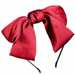Bor vörös - Női női Ribbit fül hajszalag íj csomó fejpánt fejpánt haj karika tiszta szín
