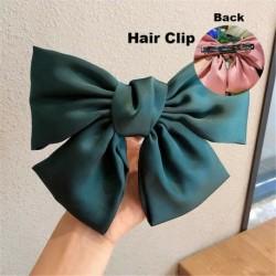 Type1 Green - ÚJ haj íj lányok bársony szatén hajtű hajtű szál hajszálak divat